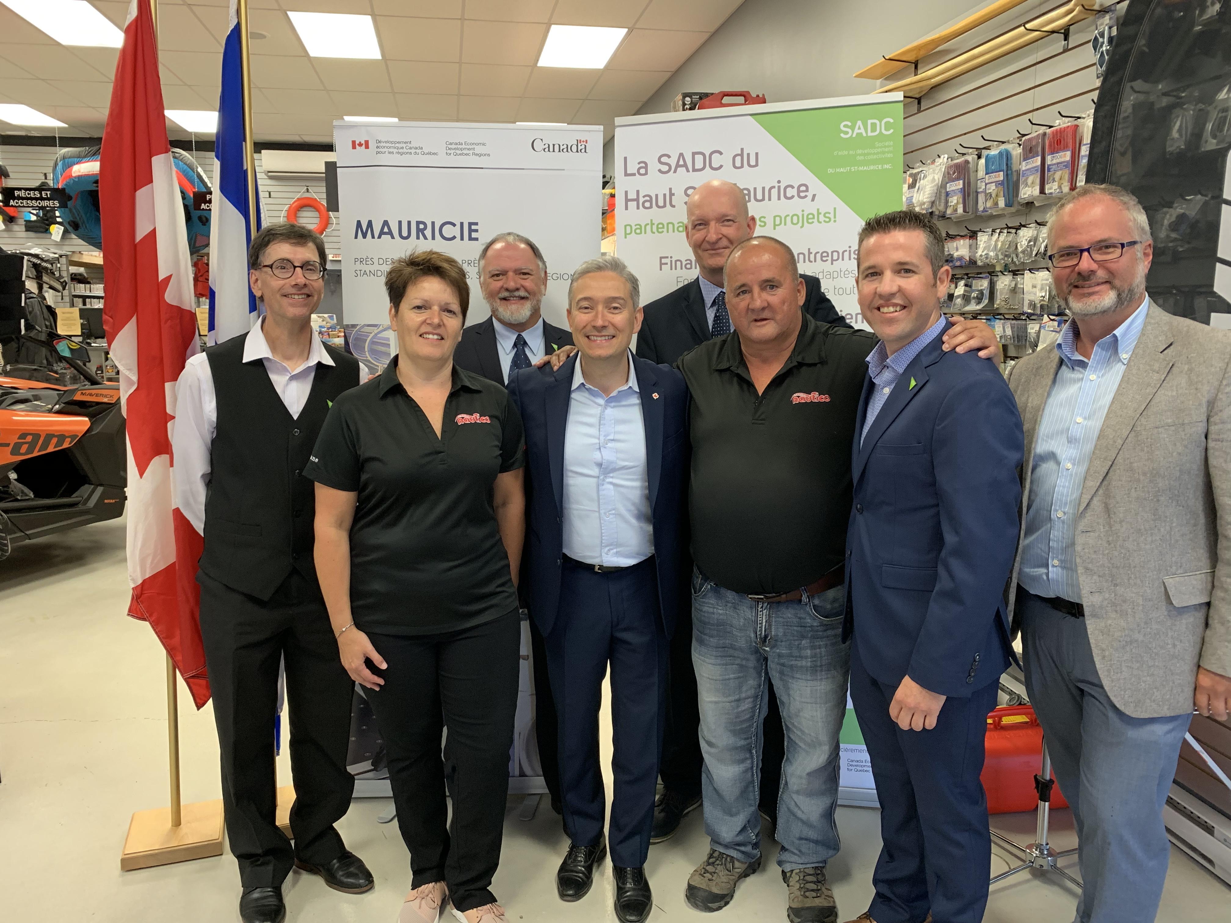 Conférence de presse - renouvellement de l'entente avec Développement économique Canada