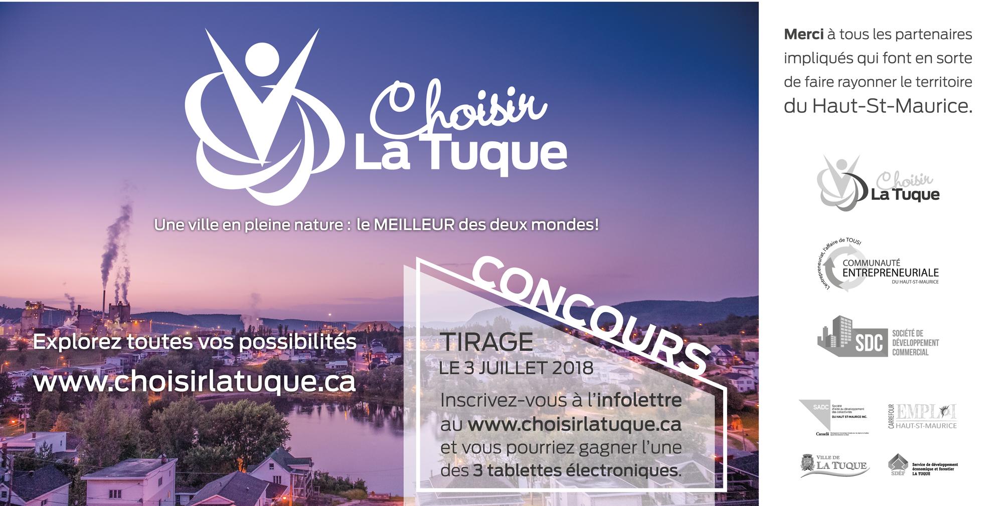 Site internet Choisir La Tuque, pour tout connaître de la ville