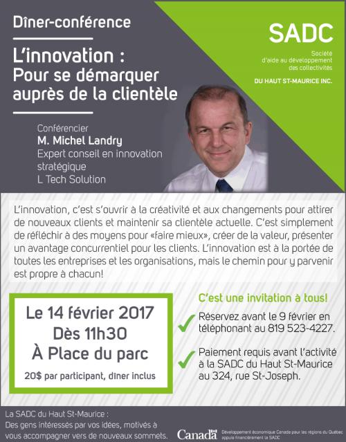 Dîner-conférence sur le thème de l'innovation